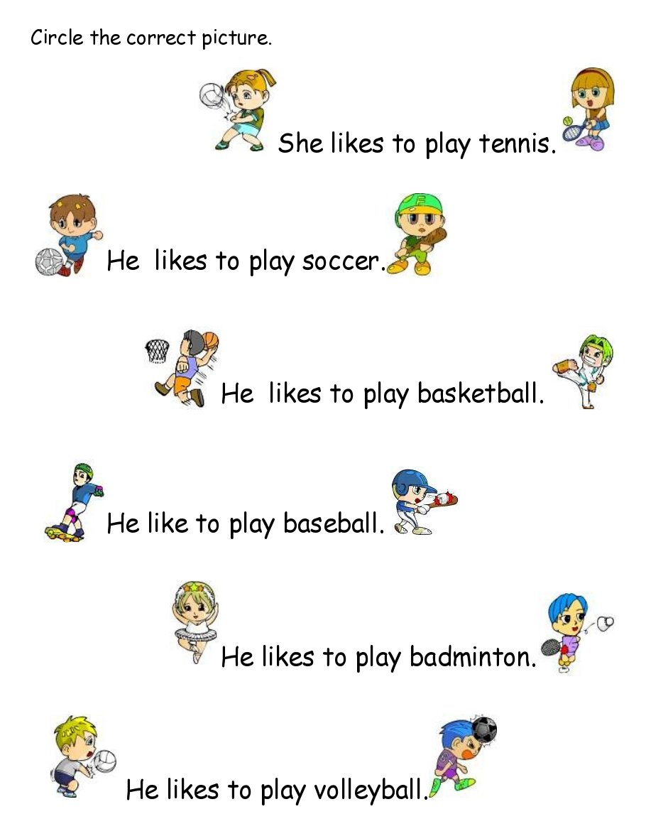 worksheet Sports Worksheets sports worksheet for kindergartens free kindergarden supplies download this as pdf
