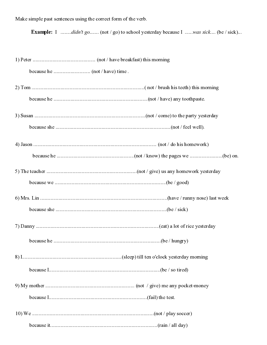 past simple worksheet simple past Teachers board – Simple Past Tense Worksheets