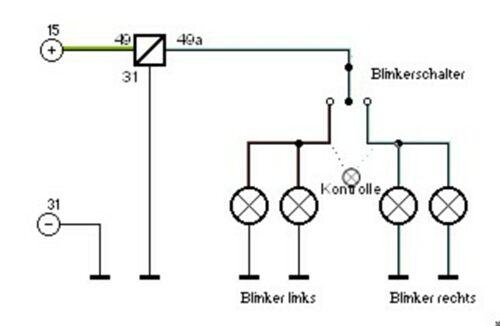 anschluss blinkrelais von kellermann - elektrik