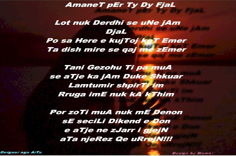 Plumb Blog: Poezi Shqip